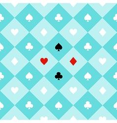 Card suits aqua green chess board diamond vector