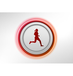 circle red with runner vector image vector image