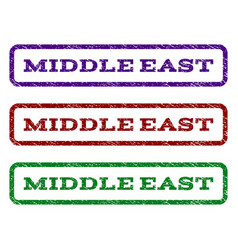 middle east watermark stamp vector image vector image