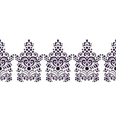 Seamless decorative floral border for frames vector image