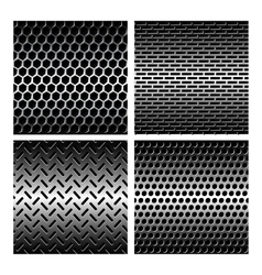 Seamless texture metal grids background vector image