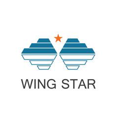 wing star logo vector image