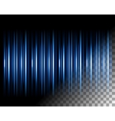 Abstract lights lines on transparent background vector image vector image