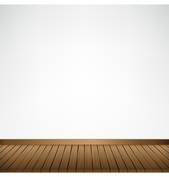 Brown wood floor texture and white wall background vector image vector image