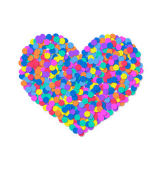 heart of colored confetti romantic flat object vector image vector image