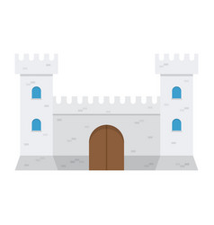 medieval castle isolated on white background vector image vector image