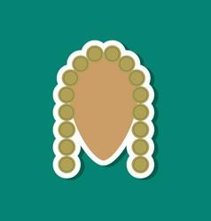 paper sticker on stylish background judge vector image
