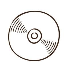 CD or DVD symbol vector image vector image