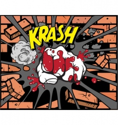 comic book fist vector image vector image