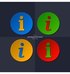 set of information sign vector image
