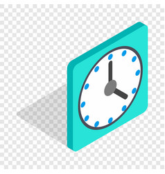 square wall clock isometric icon vector image