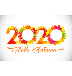 2020 hello autumn circle vector image