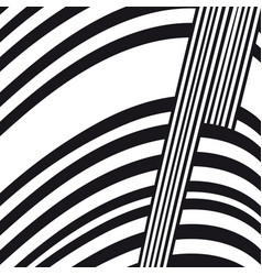 abstract black and white composition vector image