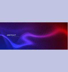 Abstract coloful particles banner design vector