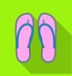 beach flip flopssummer rest single icon in flat vector image