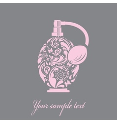 Beautiful perfume bottle made of the leaf pattern vector image