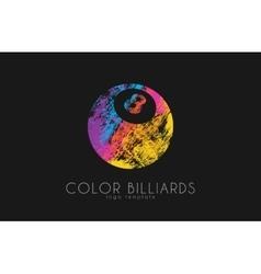 billiard ball logo logo color ball logo vector image
