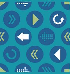 blue green teal arrow circles seamless vector image