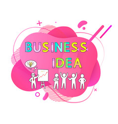 business idea presenter with thought on meeting vector image