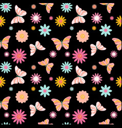 Butterfly seamless simple pattern background vector