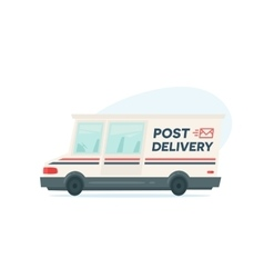 Cartoon fast delivery truck Isolated objects on vector