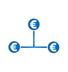 Cash flow icon euro icon vector