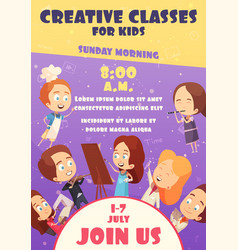 Children classes poster vector