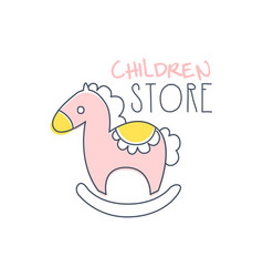 Children store logo colorful hand drawn vector