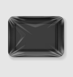 clear black food tray vector image