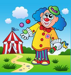 Clown theme picture 5 vector