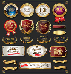 collection of vintage retro premium quality vector image