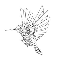 Contour mechanical hummingbird vector