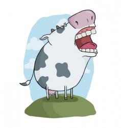 Crazy cow vector