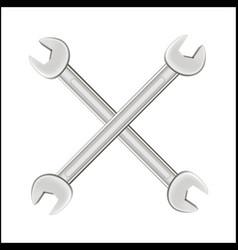 cross steel wrench logo vector image