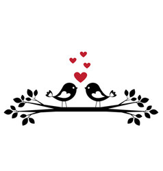Cute birds in love vector
