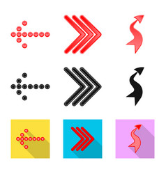 Design of element and arrow sign vector