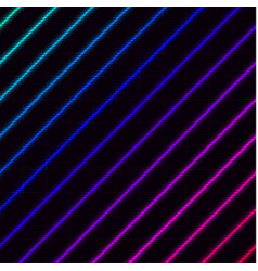 Diagonal vivid neons with laser grid on background vector