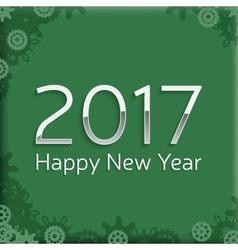 Digital happy new year 2017 text design vector