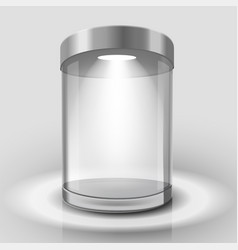 empty glass showcase vector image