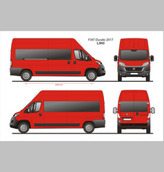 Fiat ducato passenger van l3h3 vector