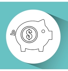 finance coin business piggy savings vector image