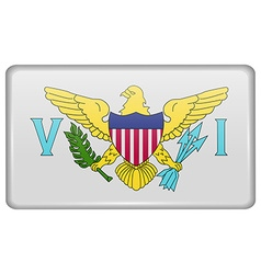 Flags VirginIslandsUS in the form of a magnet on vector image