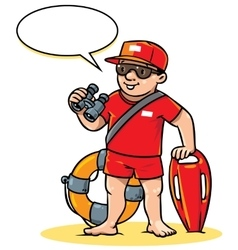 Funny lifeguard Children vector image