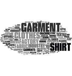 Garment word cloud concept vector