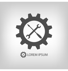Gear wheel and tools as logo vector