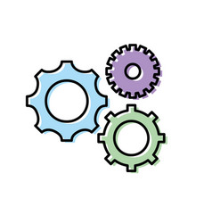gears engineering industry process technology vector image