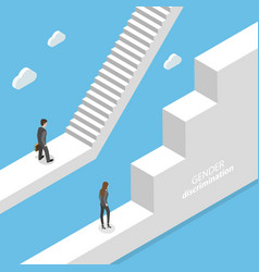 gender discrimination and inequality isometric vector image