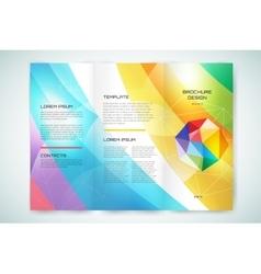 Globe brochure template Abstract arrow vector