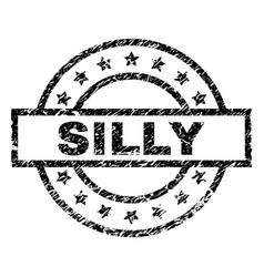 Grunge textured silly stamp seal vector