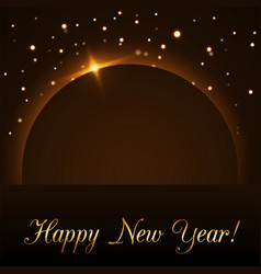 Happy new year background magic gold rain and vector
